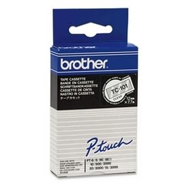 Brother P-Touch TC101 12mm Black on Clear Label Tape