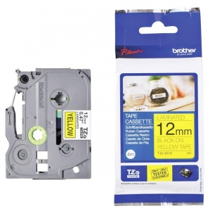 Brother P-Touch TZE-631S 12mm Black on Yellow Laminated Label Tape