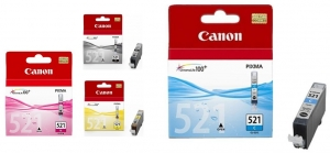 Canon CLI-521 MULTI Ink Cartridge Multi Value Pack - Black, Cyan, Magenta, Yellow