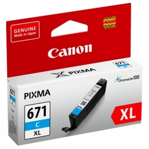 Canon CLI-671XL Cyan High Yield Ink Cartridge