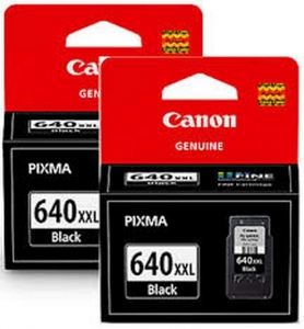 Canon PG-640XXL Black Extra High Yield Ink Cartridge - Twin Pack