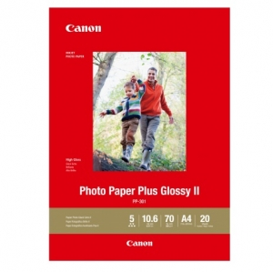 Canon PP301A4-20 Glossy A4 265gsm Photo Paper Plus II - 20 Sheets