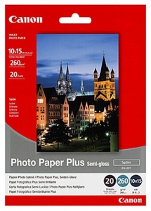 Canon SG201 Semi Gloss 102x152mm 260gsm Photo Paper - 20 Sheets