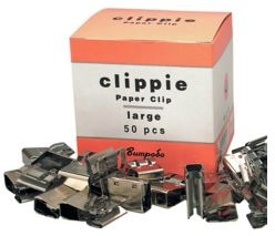 Clippie Large Slide Paper Clips - 50 Pack