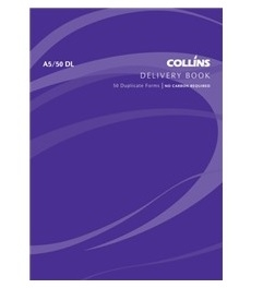 Collins A5 Delivery Duplicate NCR Book - 50 Leaf