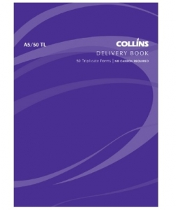 Collins A5 Delivery Triplicate NCR Book - 50 Leaf