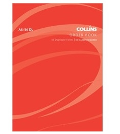 Collins A5 Goods Order Duplicate NCR Book - 50 Leaf