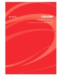 Collins A5 Goods Order Triplicate NCR Book - 50 Leaf