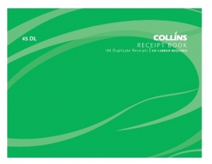 Collins 100x130mm Receipt Duplicate NCR Book - 100 Leaf