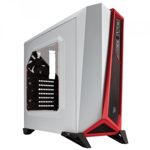Corsair Carbide Series Spec-Alpha Mid-Tower Gaming Case -White & Red