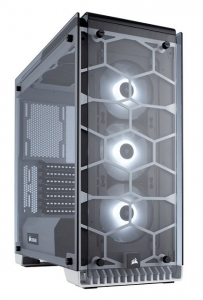 Corsair Crystal Series 570X RGB ATX Mid-Tower with Tempered Glass Panel – White