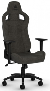 Corsair T3 RUSH Fabric Gaming Chair with Adjustable Arm Rests - Charcoal
