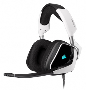 Corsair VOID RGB Elite USB Wired Gaming Headset with 7.1 Surround - White