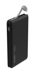 Cygnett ChargeUp Pocket 8000mAh USB Portable Power Bank with Lightning Cable - Black