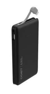 Cygnett ChargeUp Pocket 8000mAh USB Portable Power Bank with USB-C Cable - Black