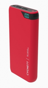 Cygnett ChargeUp Boost 15000mAh Dual Port Portable Power Bank - Red