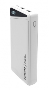 Cygnett ChargeUp Boost 2 20000mAh 3 Port USB-A & USB-C Powerbank with 45W Laptop Power Delivery - White