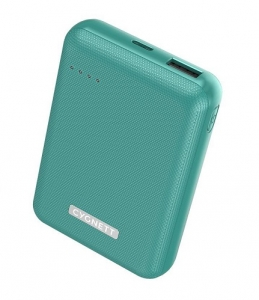Cygnett ChargeUp Reserve 10000mAh Dual Port USB-A & USB-C Powerbank with 18W Fast Charging - Jade Green
