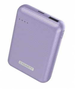 Cygnett ChargeUp Reserve 10000mAh Dual Port USB-A & USB-C Powerbank with 18W Fast Charging - Lilac Purple