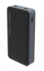 Cygnett ChargeUp Ultra 20000mAh Dual Port USB-A Powerbank - Black