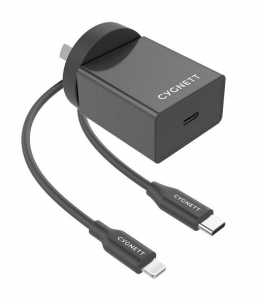 Cygnett PowerPlus 3A 18W USB-A Universal Quick Charge Wall Charger with 1.5m Lightning to USB-A Cable