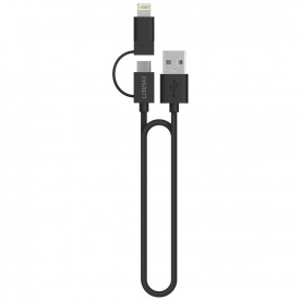 Cygnett 1m Micro USB & Lightning to USB Charge & Sync Cable