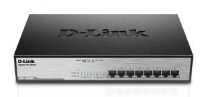 D-Link DGS-1008MP 8-Ports 2 Layer Unmanaged Rackmount Switch