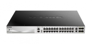 D-Link DGS-3130-30PS 26-Port Layer 3 Gigabit Smart Managed Switched