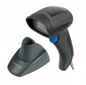 Datalogic QD2430 2D Imager, USB Hand Held Scanner Kit Black - With Stand