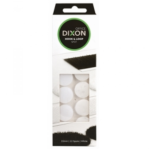 Dixon Hook & Loop 22mm White Spots - 12 Pack