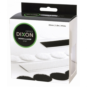 Dixon Hook & Loop Only 1.8m x 20mm Strip - White