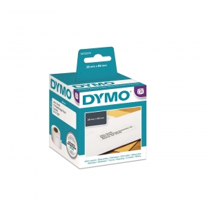 DYMO LW 28mm x 89mm Black on White Shipping Address Label Roll - 2 Pack