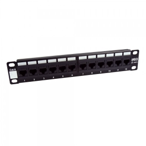 Dynamix 12 Port Cat 6 Patch Panel for 10 Inch Cabinets