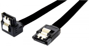 Dynamix 50cm Right Angled SATA 6GBs Data Cable with Latch - Black