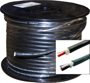 Dynamix 100M 4 Conductor 14 AWG Audio Cable 8.5mm x (7/15/0.16BC) x 4C includes Cotton Yarn. OFC Conductor Meter Marked