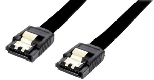 DYNAMIX 20cm SATA 6Gbs Data Cable with Latch - Black