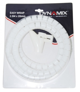 Dynamix Easy Wrap 2.5m x 20mm White Cable Management Solution