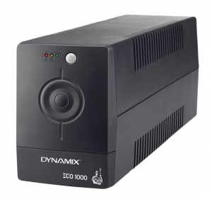 Dynamix ECO Series 1000VA 600W 3 Outlet Line Interactive Tower UPS