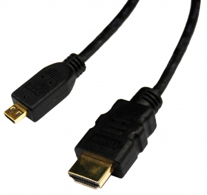 Dynamix 1M HDMI to HDMI MIcro (Type D) Cable v1.4, Colour Black