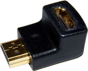 Dynamix HDMI Left Angled Adapter High Speed with Ethernet GOLD Plated Connectors