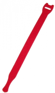 Dynamix Hook & Loop 200mm x 13mm Red Cable Ties - 10 Pack
