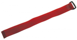 Dynamix Hook & Loop 300mm x 20mm Red Cable Ties - 10 Pack