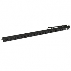 Dynamix 20 Outlet 16A Vertical Power Rail with 6kVA Circuit Breaker
