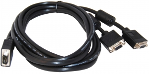 Dynamix 2M VGA Monitor Multiplexer Y Cable. (HD DB15M to 2 x HD DB15F)