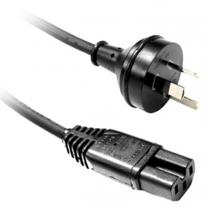 Dynamix 2m 3 Pin Plug to Notched C15 Female Plug Power Cord Cable