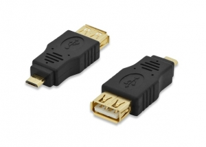Ednet USB Type-B (Male) to USB Type A (Female) Adapter - Black