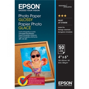 Epson S042547 Glossy 4x6 200gsm Photo Paper - 50 Sheets