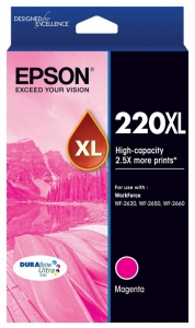 Epson DURABrite Ultra 220XL Magenta High Yield Ink Cartridge