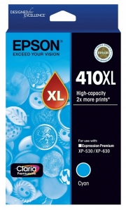Epson 410XL Claria High Yield Cyan Ink Cartridge