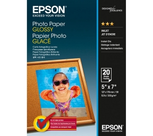 Epson S042544 Glossy 5x7 200gsm Photo Paper - 20 Sheets
